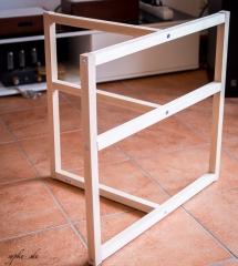 DIY Selbstbau Hifi Rack LACKsand - Grundgestell / Rahmen roh