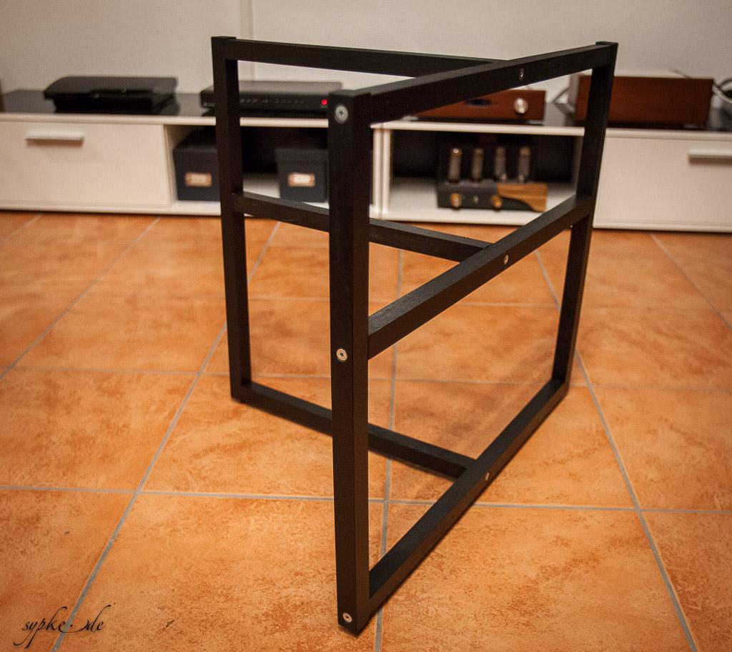 Innenarchitektur Hifi Regal Holz Dekoration Von Diy Selbstbau Rack Lacksand - Lackiertes Grundgestell