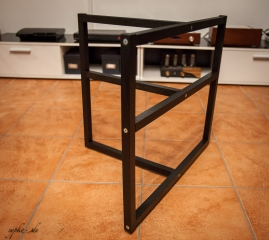 DIY Selbstbau Hifi Rack LACKsand - Lackiertes Grundgestell / Rahmen