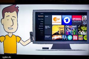 Typisch amerikanisch : Ein animierter Comic erklärt die grundlegenden Funktionen des fireTV