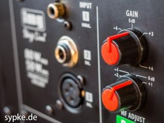 Aktiver Studiomonitor IMG Stage Line SOUND-65/SW Potis für Gain und Hochtonpegel